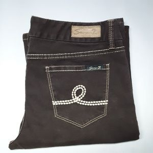 Seven7 Brown Boot Cut Jeans